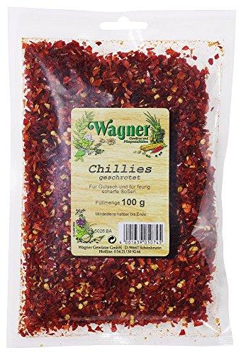 Wagner Gewürze Chillies geschrotet scharfe Chiliflocken als Gewürz für Chili con Carne, Saucen &...