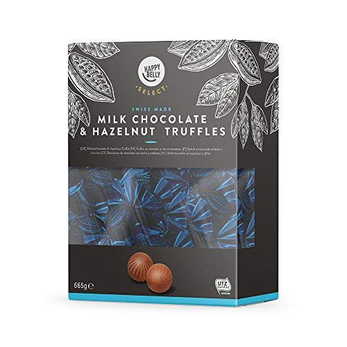 Amazon-Marke: Happy Belly Select Milchs chokolade & Haselnuss Trüffel, 665g