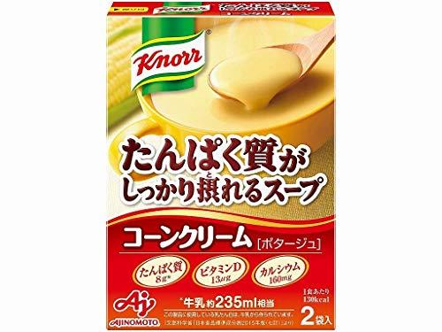 味の素 クノールスープ たんぱく質がしっかり採れるスープ コーンクリーム 10箱入