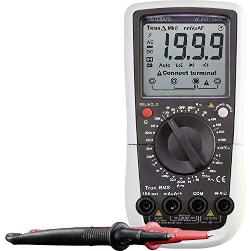 Preisvergleich Produktbild VOLTCRAFT VC251 (K) Hand-Multimeter Kalibriert nach ISO digital CAT III 600 V Anzeige (Counts): 2000