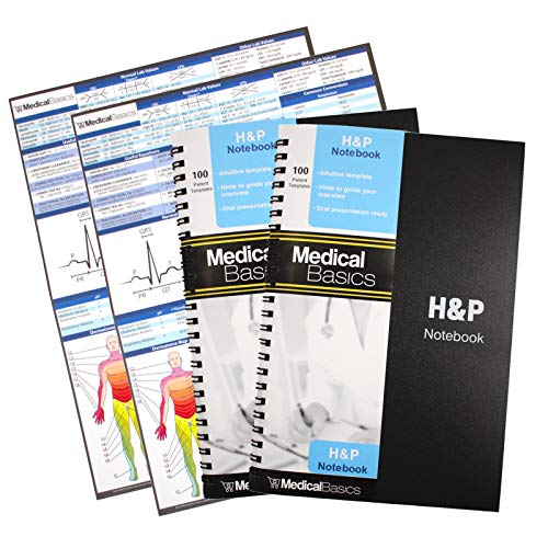 H&P Notebook (2 Pack) - Medical History and Physical Notebook, 100 Medical templates with...
