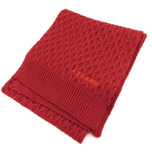 AZZARO [K7949 - Echarpe gaufrée rouge
