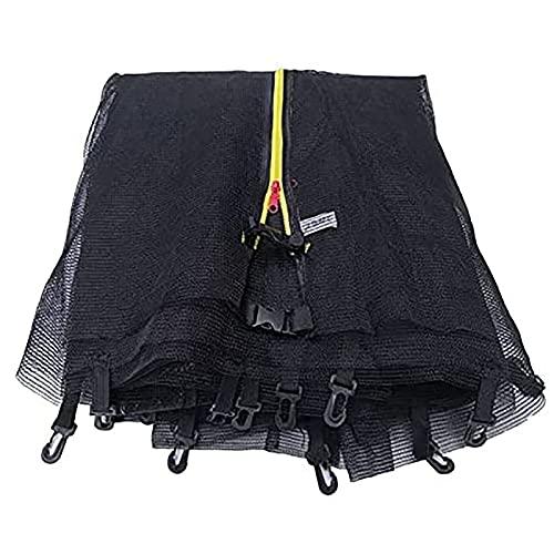 GYYlucky 8ft 10ft 12ft 13ft 6ft Reemplazo de trampolín Red de Seguridad Entorno del recinto (244cm, 306cm, 366cm, 183cm) (Color : Black, Size : 8 Rods 3.66 Meters)