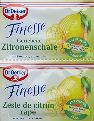 Dr. Oetker Finesse Geriebene Zitronenschale, 11er Pack (22 x 6g)
