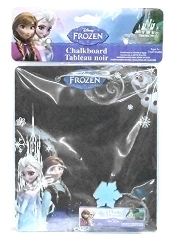 Disney Frozen Elsa, Anna, Olaf Chalkboard with Eraser and 2 Chalks