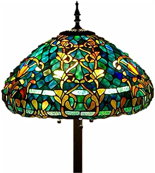 Tiffany Style Stained Glass Floor Lamp Azure Sea