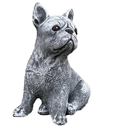 Stone and Style Steinfigur französische Bulldogge Dogge Hund, Frost- und Wetterfest, handgearbeitet