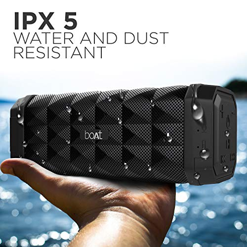 boAt Stone 650 10W with The ipx 5 Rating, 7 Hours of Play time, Bluetooth v4.2 and AUX (Black)