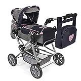 Bayer Chic 2000-Cochecito de muñecas Roadstar para niños Grandes, Transporte extraíble y Bolsa de pañales, Color Gris y Azul Marino. (562 26)