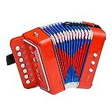 TYYLCZF Juguetes de acordeón para niños, Principiantes, Instrumentos Musicales, iluminación, educación temprana, música, Mini Piano, Regalos de cumpleaños para niños y niñas (Color : A)