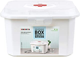 TXC- Pill Box PP Household medicine box Medicine Storage Box Durable (Color : White, Size : L33.5cm)