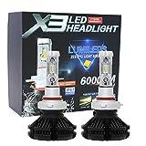 X3 LED バルブ Lumleds LUXEON ZESチップス採用ヘッドライト フォグランプ 50W 6000LmX2 3000k/6500K/8000k イエロー ブルー ホワイト (HB4)