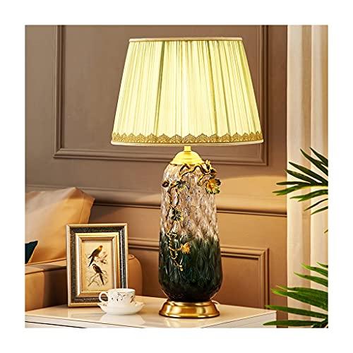 Lampara Mesilla Lámpara de mesa de color de esmalte de cristal de cobre Simple estilo europeo sala de estar mesa de café lámpara de decoración de la lámpara de noche de la noche de la noche de la lámp