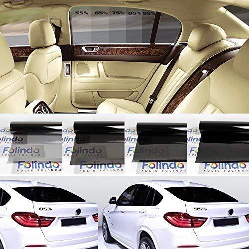 Solar Screen 8,22€/m² Profi Auto Tönungsfolie Tief Schwarz 95% Scheibenfolie 51cm Breite Black Plus 95c Scheibentönungs-Folie Ink ABG