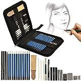Artina Kit per Disegno Bari - Astuccio artisti Super accessoriato con matite per Schizzi L...