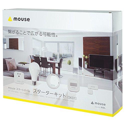 mouse スマートホーム(IoT製品) スターターキット5点セット (ルームハブ/モーションセンサー/スマートプラ...