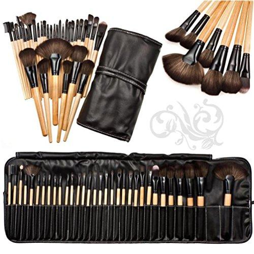 Sayue 32pcs Pinceaux Cosmétiques/Trousse à Maquillage Professionnel/Set de Trousse