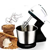 SKYOWL 2 in 1 Hand & Stand Mixer, with Whisk, Stainless Steel Kitchen Food Stand Mixer Cream Egg Whisk Blender Cake Dough Mixer 250 watt