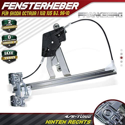 Frankberg Fensterheber Ohne Motor Hinten Rechts für Octavia I 1U2 1U5 Stufenheck Kombi 4/5-Türig 1996-2010 1U0839462B