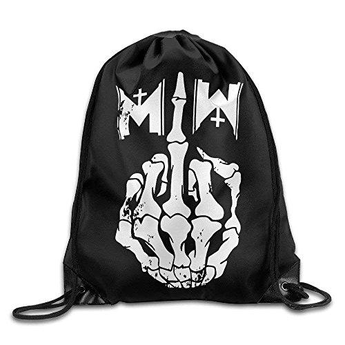 Etryrt Turnbeutel/Bedruckte Sportbeutel, Premium Drawstring Gym Bag, Motionless In White Gothic Metal Band Gym Drawstring Bags Backpack