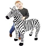 VIAHART Zelassie The Zebra | 3 Foot Big Stuffed Animal Plush Zebra Horse Pony | Shipping from Texas | by Tiger Tale Toys