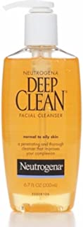 Neutrogena Deep Clean Daily Facial Cleanser with Beta Hydroxy Acid for Normal to Oily Skin, Alcohol-Free, Oil-Free & Non-Comedogenic, 6.7 fl. oz (Pack of 2)