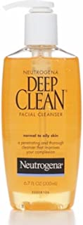 Neutrogena Deep Clean Daily Facial Cleanser with Beta Hydroxy Acid for Normal to Oily Skin, Alcohol-Free, Oil-Free & Non-Comedogenic, 6.7 fl. oz (Pack of 6)