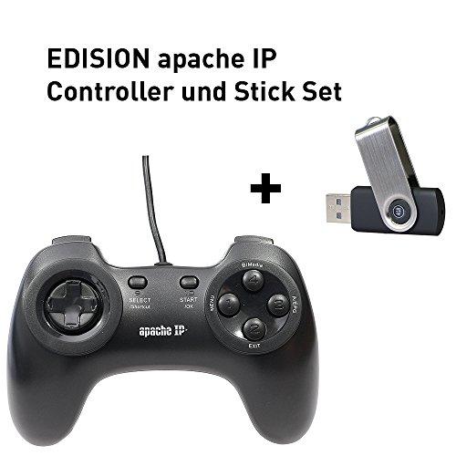 Edision EDIGCU gamecontroller voor apache-IP-ontvanger (DVB-S2) met USB incl. 175 vooraf geïnstalleerde games zwart
