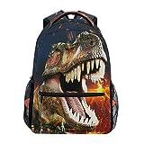 Mochila para el colegio de niño con diseño 3D de dinosaurio T-Rex. Mochilas estupendas para niños, adolescentes, para viajes, portátil, etc.