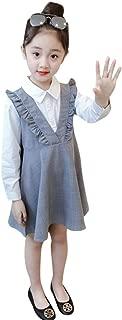 Weixinbuy Little Baby Girl's Ruffled Long-Sleeve One Piece School Uniform Party Dresses