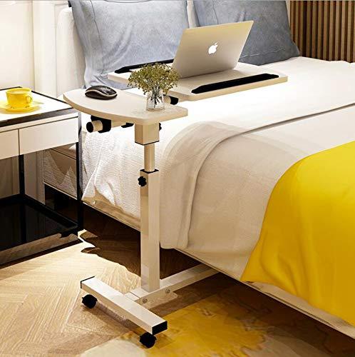 NANXCYR Mobile Computer Schreibtisch Winkel & höhenverstellbar Behälter des Rollen Laptop Ständer Tisch Schreibtisch Sofa/Bett Beistelltisch Krankenhaus Tischständer mit Abschließbare Casters,C