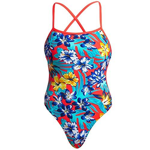 Funkita Badeanzug Damen Aloha from Hawaii mit offenem Rücken schnelltrocknend, Damen Größen:38