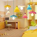 Wankd - Lampadario a sospensione moderno e creativo per la cameretta dei bambini, in silicone, Blu, 20*20cm