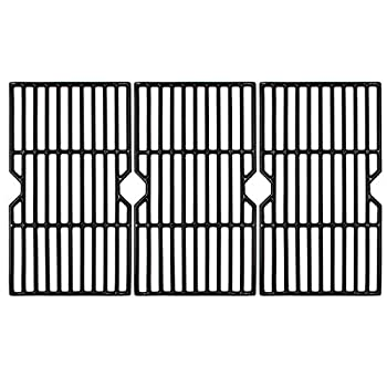 Hongso 16 7/8  Polished Porcelain Coated Cast Iron Gas Grill Grates Replacement for Charbroil 463432215 463436213 463436214 463436215 463420509 463440109 463441312 463441514 Grills PCH763