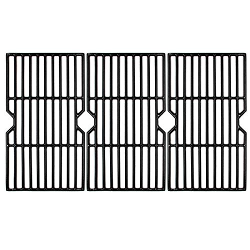 Hongso 16 7 8  Polished Porcelain Coated Cast Iron Gas Grill Grates Replacement for Charbroil 463432215, 463436213, 463436214, 463436215, 463420509, 463440109, 463441312, 463441514 Grills, PCH763