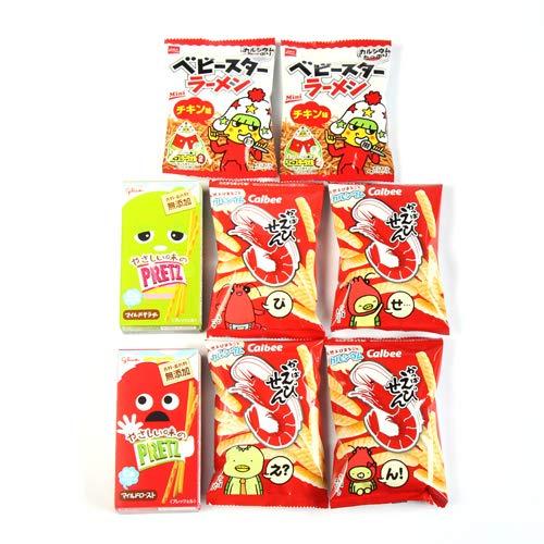カルビーかっぱえびせん(12g)・プリッツ・ベビースターラーメンセット (4種・計8個)