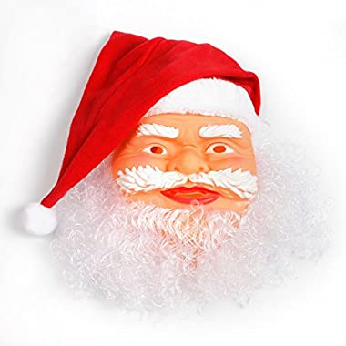 PyLios(TM) Santa Father Christmas Mask Carnival Christmas Santa Claus Mask For Christmas Party Decoration Photo Props