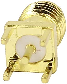 2 Pcs RP SMA Male Jack Solder PCB Clip Edge Mount RF Adapter Connector Ships from USA
