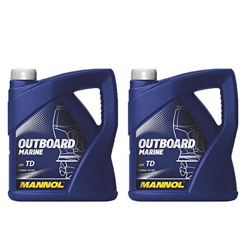 MANNOL 2 x 4L Outboard Marine/API TD NMMA TC-W3 2 tiempos aceite de motor de barco