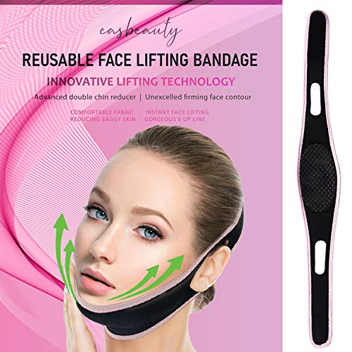 Updated Facial Slimming Strap-Pain-Free Face Lifting Belt-Anti-Aging & Anti-Wrinkle Slimming Face Mask-Double Chin Reducer -Contouring Tightening Firming Face Lift Tape for Women Men