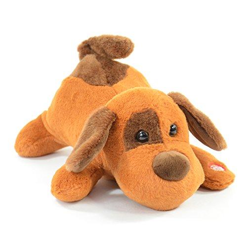 Kögler 75686 - Laber Hund Gitta, Labertier mit Aufnahme- und Wiedergabefunktion, plappert alles witzig nach und bewegt sich, ca. 26 cm groß, ideal als Geschenk für Jungen und Mädchen