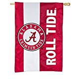 Team Sports America Double Sided Embellished Flag for Crimson Tide Fans! Officially Licensed University of Alabama Weather and Fade Resistant Outdoor Flag 44 x 28 Inches