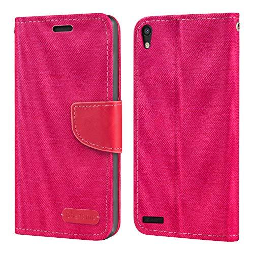 Huawei Ascend P6 Hülle, Oxford Leder Wallet Hülle mit Soft TPU Back Cover Magnet Flip Hülle für Huawei Ascend P6