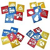 Adkwse 24 Zeichen Schablone Tiere Mitgebsel Bullet Journal DIY Malerei für Kinder