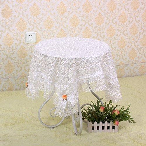 Nappe de dentelle Serviettes multi-usage sont utilisés pour les tables de différentes tailles et types et réfrigérateurs machine à laver Table de chevet TV serviette , white , 90*90