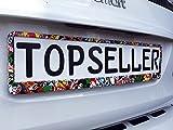 2 x Kennzeichenhalter Nummernschildhalter Stickerbomb Sticker Autozubehör Auto