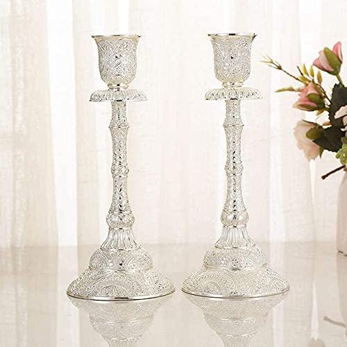 Cozywind Juego de 2 candelabros de Mesa, candelabros Vintage, candelabros Decorativos, candelabros...