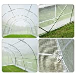 MELLCOM 20' x 10' x 7' Greenhouse Large Gardening Plant Hot House Portable Walking in Tunnel Tent, White 15 【8 ROLL-UP SIDE WINDOWS】-The green house eight roll-up windows have mesh netting to allow for cross ventilation and climate control. 【HEAVY DUTY STEEL FRAME】-Walk-in Garden Greenhouse solid steel construction with a galvanized finish, which is resistant to rust, chipping, and peeling. 【TRANSPARENT PLASTIC COVER】-The tough, durable and transparent PE plastic cover protects plants while allowing nourishing sunlight to pass through. The cover can be easily attached to the frame with the included tethers and single-sided tape.