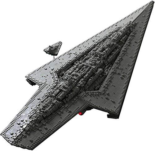 LSOGO Custom Bouwstenen Across The Battlefield MOC luchtschip modecompatibel met grote merken, 7284 stuks klembouwstenen - Executor Class Star Destroyer