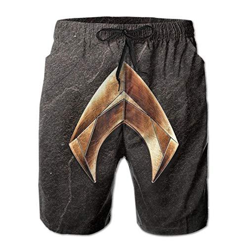 WJJSXKA Aquaman Mens Swim Trunks, 3D Printed Quick Dry Men